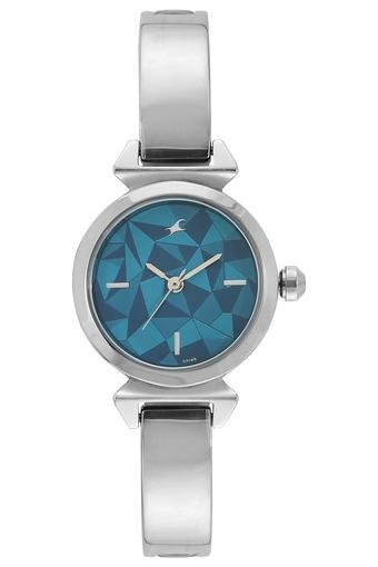 Womens Blue Dial Brass Analogue Watch - NK6131SM02