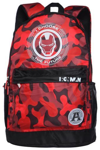 Boys Iron Man Zip Closure School Bag