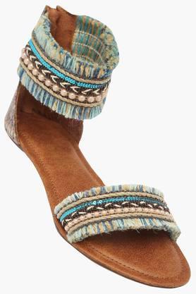 CATWALKWomens Casual Wear Zipper Closure Flats