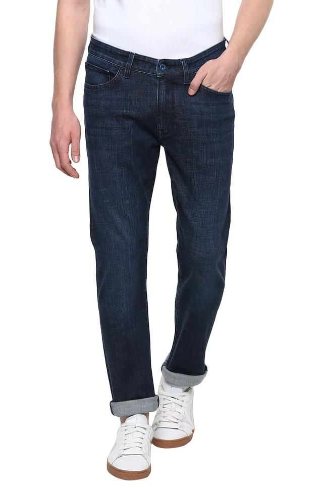 Mens 5 Pocket Rinse Wash Jeans