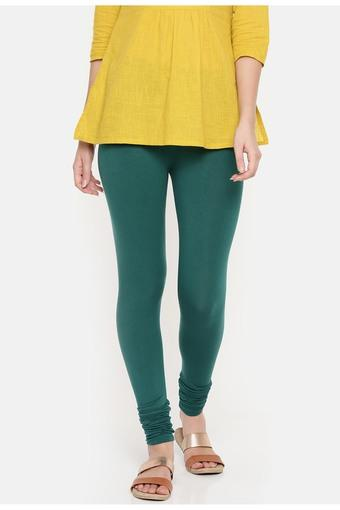 DE MOZA -  Bottle GreenJeans & Leggings - Main