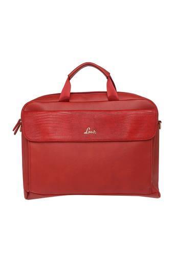 Womens Zip Closure Laptop Satchel Handbag