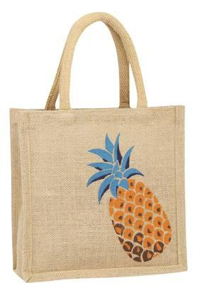 BACK TO EARTH Unisex Printed Jute Bag
