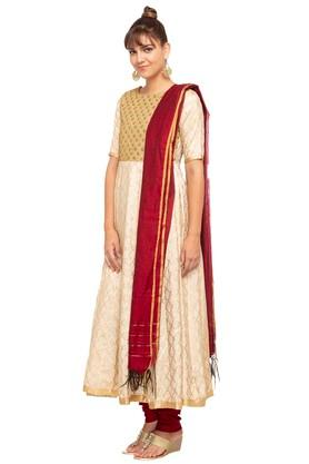 Womens Round Neck Printed Churidar Set