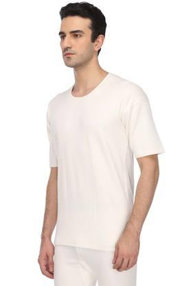 Mens Round Neck Solid Thermal Vest