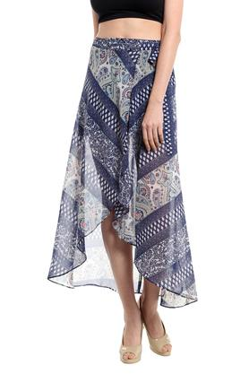 NOBLE FAITH Womens Printed Mid Length Skirt