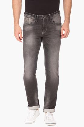 FLYING MACHINE Mens Skinny Fit Heavy Wash Jeans (Jackson Fit) - 202896842