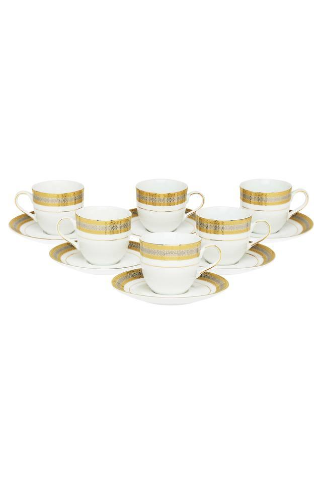 Printed Cup and Saucer- Set of 6