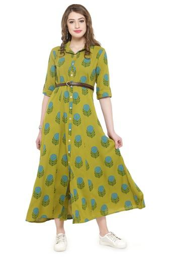 Women Rayon Floral Print Maxi dress