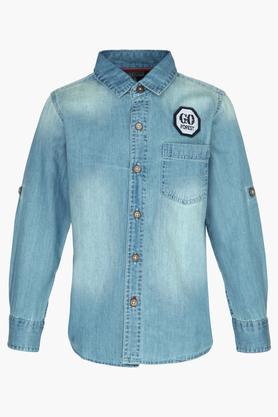 Boys Mild Wash Casual Shirt