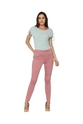 Womens Skinny Fit Coated Jeans