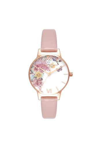 Womens Enchanted Garden Vegan Multi-Colour Dial Leather Analogue Watch - OB16EG100W