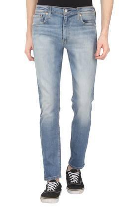 Mens 5 Pocket Whiskered Effect Jeans (512)