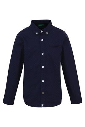 Boys Collared Printed Shirt with Bow Tie
