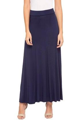 MINERAL Womens Solid Long Skirt