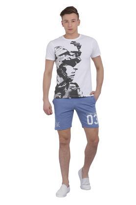 Mens 3 Pocket Graphic Print Shorts