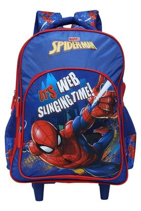 Boys Spiderman Web Slinging School Bag with Wheels