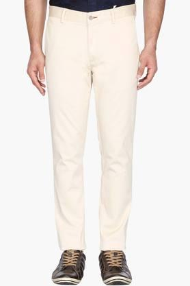 BLACKBERRYS Mens Skinny Fit Solid Chinos