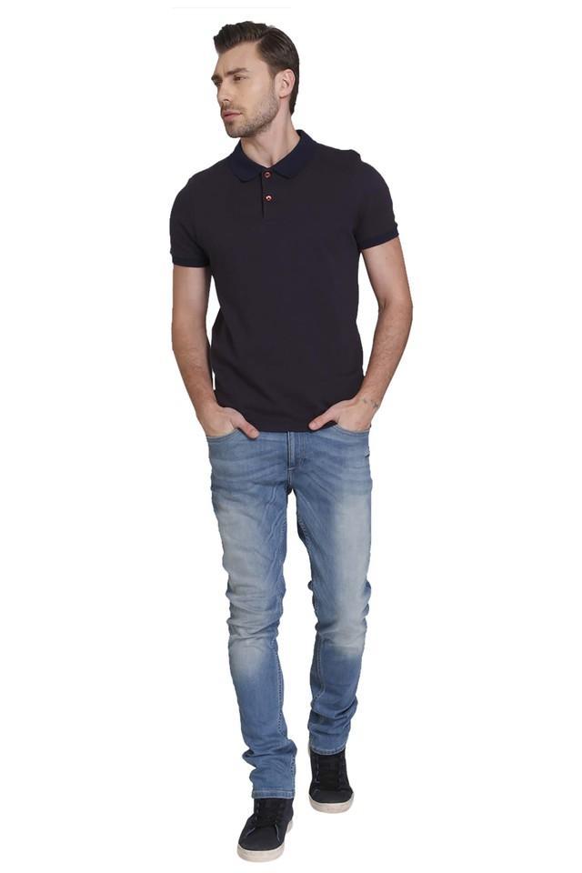 Mens Self Pattern Polo T-Shirt