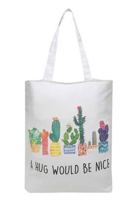 BACK TO EARTH Printed Canvas Bag With Handle