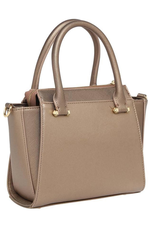Womens Zipper Closure Satchel Handbag