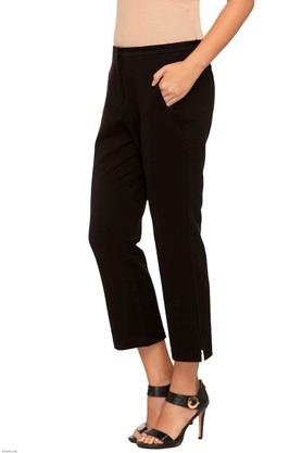 Womens 2 Pocket Solid Pants