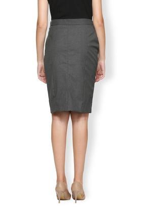 Womens Slub Knee Length Skirt