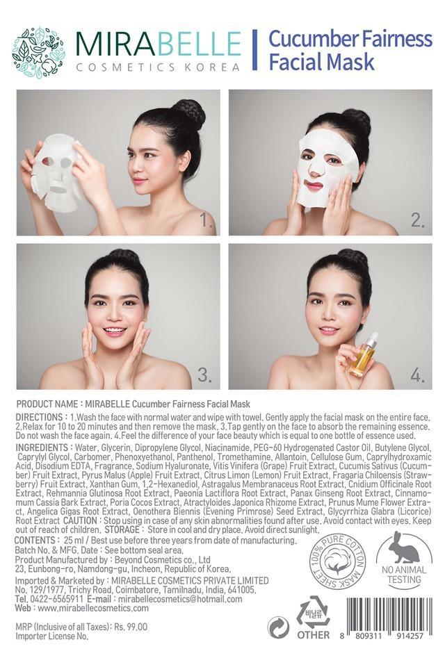 Cucumber Fairness Facial Mask