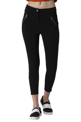 Womens 2 Pocket Solid Leggings
