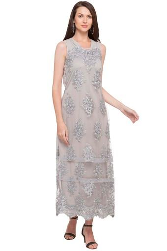 Womens V Neck Embroidered Maxi Dress