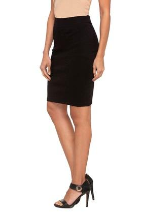 Womens Solid Pencil Skirt