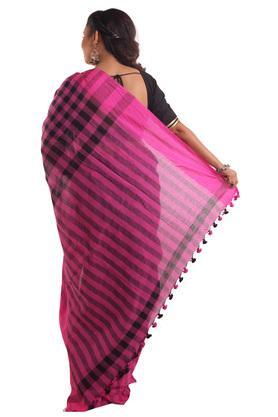 Women Gamcha Checks Cotton Saree