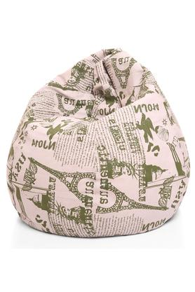 Classic Canvas Abstract Printed Bean Bag XL Size with Fillers