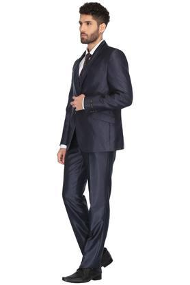 Mens Shawl Lapel Self Pattern Suit