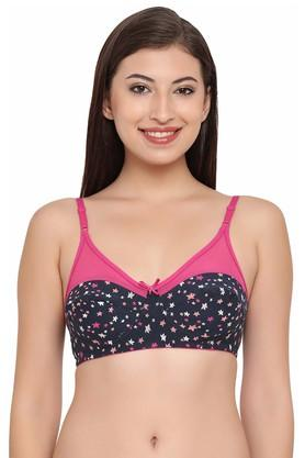 Womens Printed Non Wired Non Padded Full Coverage Bra