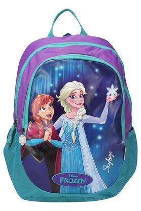 Girls Zip Closure Cartoon Print School Bag