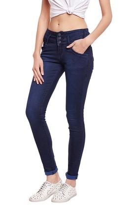 Womens 5 Pocket Rinse Wash Jeans