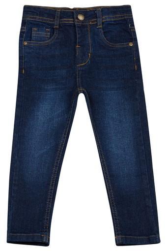 Boys 4 Pocket Whiskered Effect Jeans