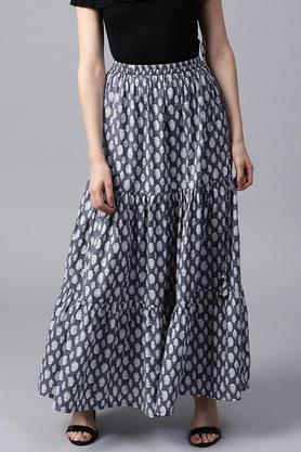 GERUAWomen Cotton Ptinted Skirt