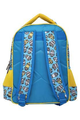 Unisex Minion Blue Flap School Bag