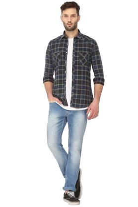 Mens 2 Pocket Checked Shirt