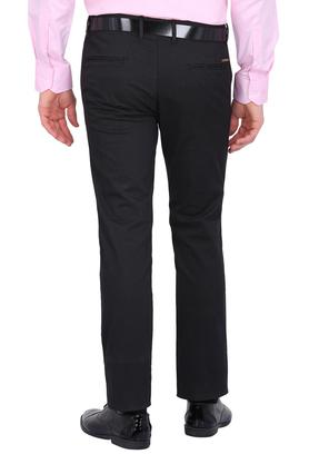 Mens 5 Pocket Checked Formal Trousers