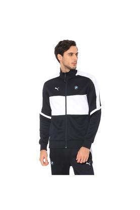 Mens High Neck Colour Block Jacket