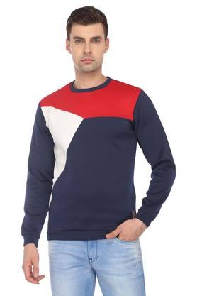 VAN HEUSEN SPORT Mens Round Neck Colour Block Sweatshirt