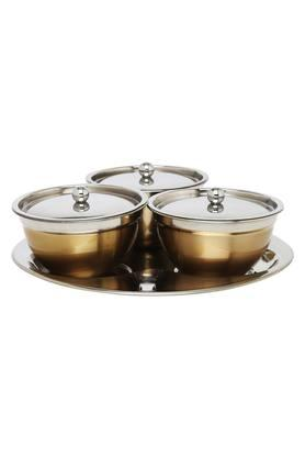 IVY Round 3 In 1 Condiment Set With Lid And Spoon