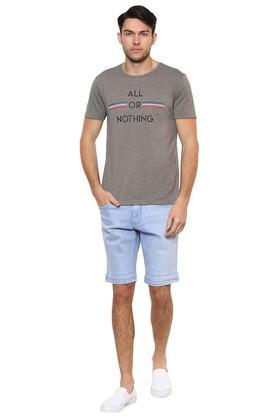 Mens 5 Pocket Washed Shorts
