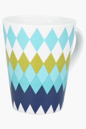 Round Geometric Printed Coffee Mug
