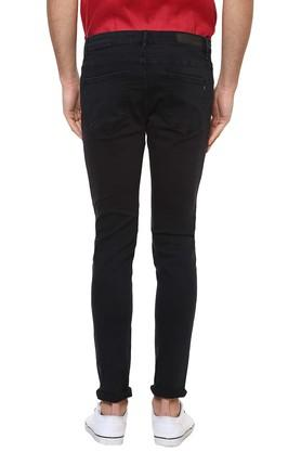 Mens Skinny Fit 4 Pocket Coated Jeans