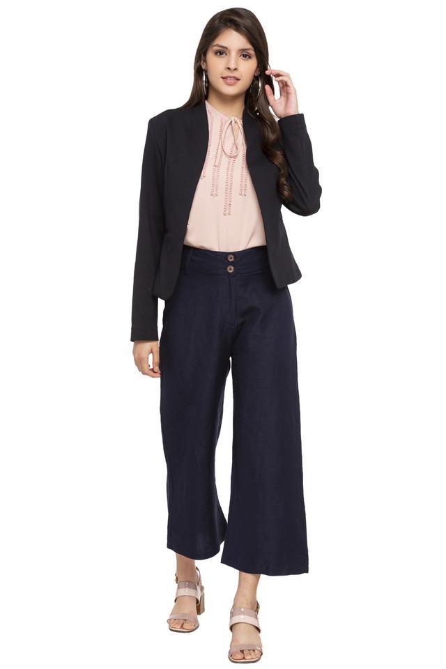 Womens Solid Formal Blazer