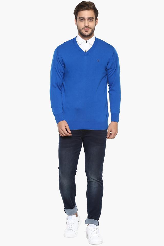 Mens V- Neck Slub Pullover